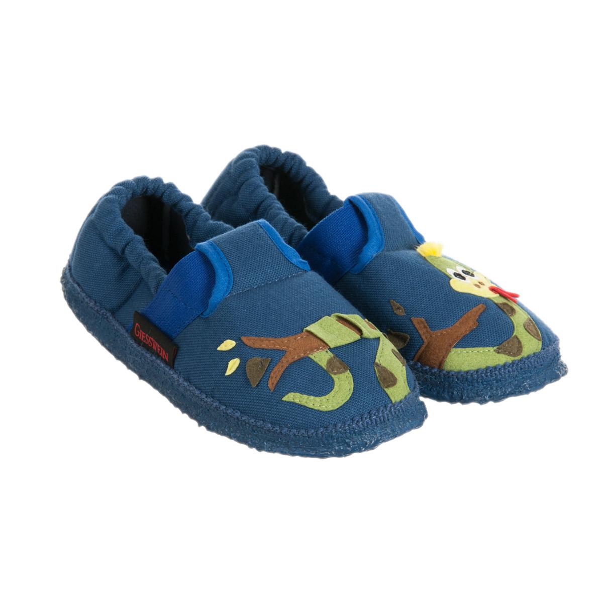 online store 47446 b4e7b pantofole da ragazzo con suola antiscivolo Atzelgift firmato GIESSWEIN