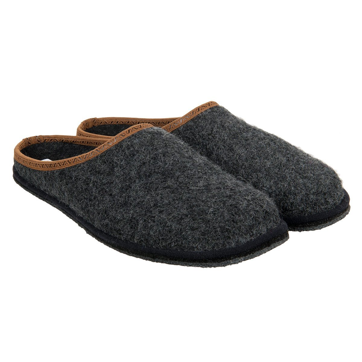 man with non slip sole in wool