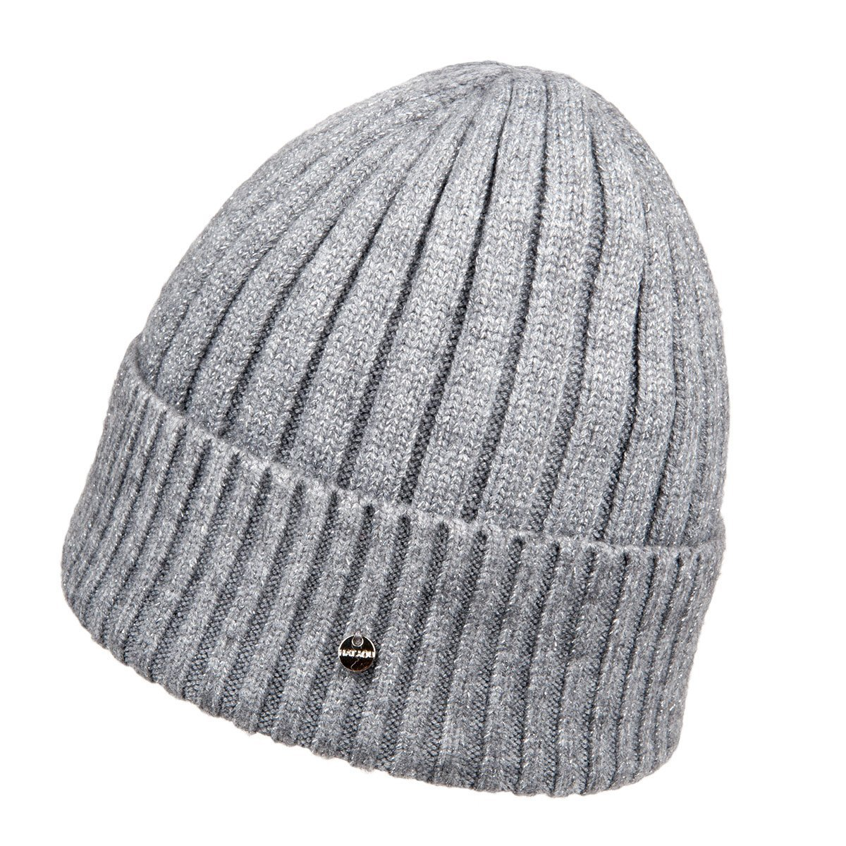wooly beanie cap with lurex b30716eb6b2